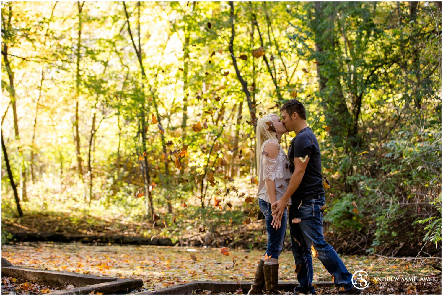 eau claire autumn engagement session andrew samplawski photography
