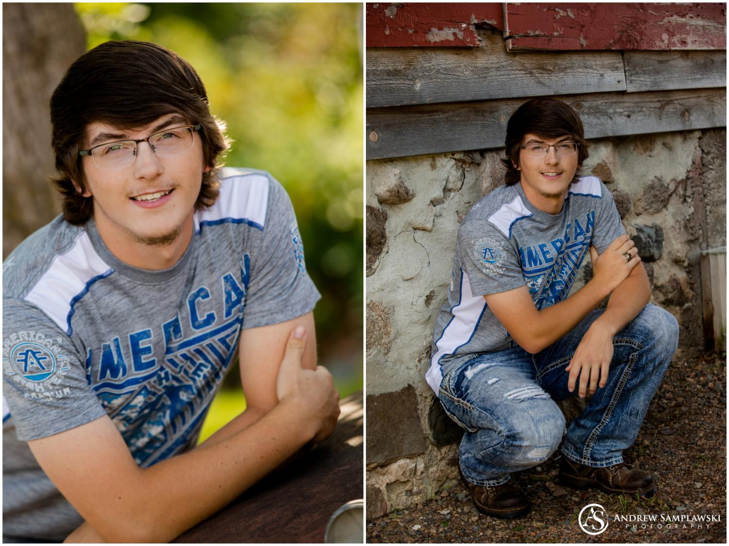 monson bridge senior session andrew samplawski