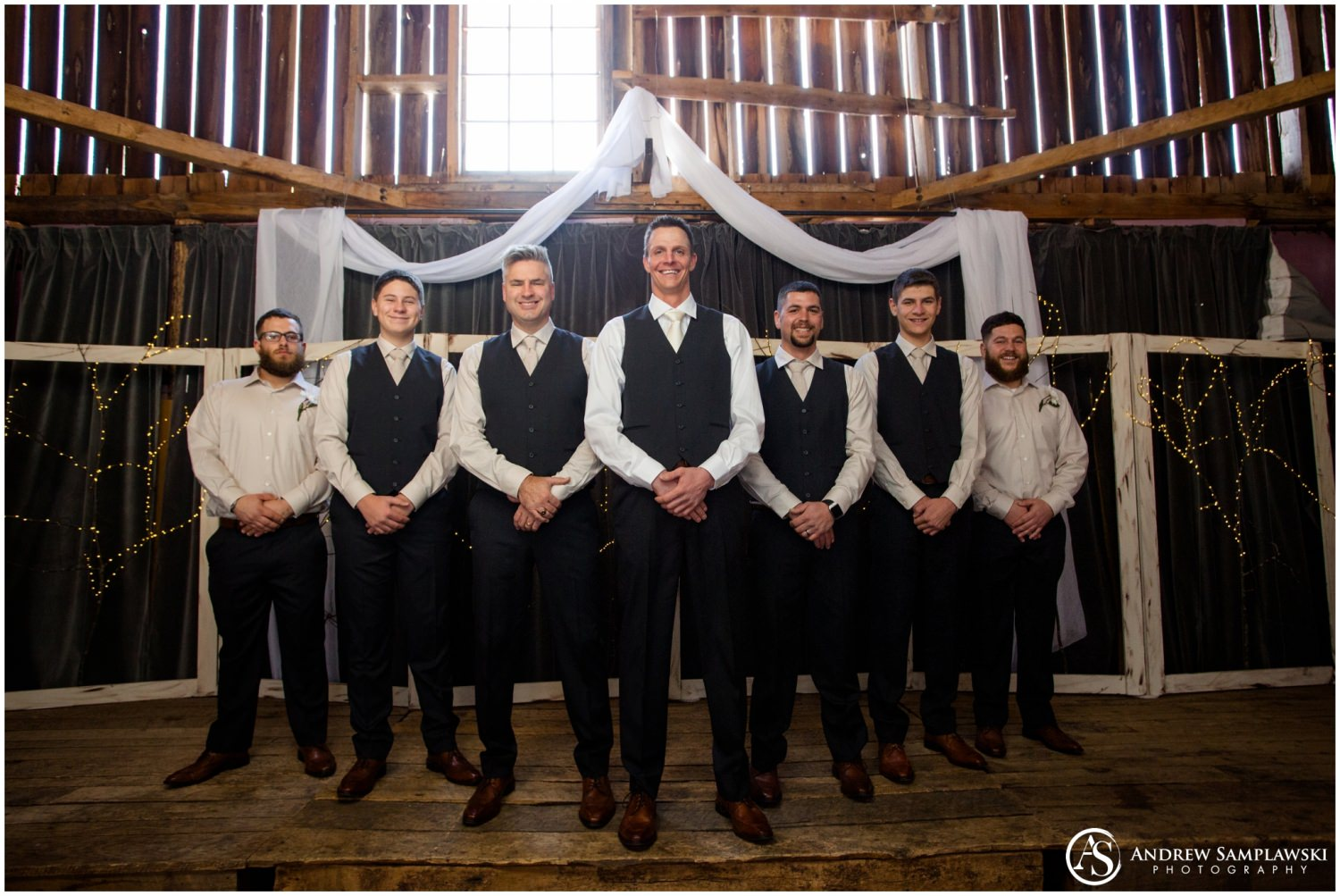 Enchanted barn wedding andrew samplawski photography