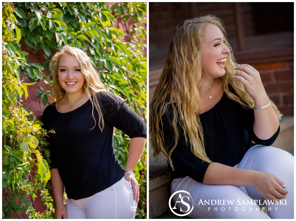 Downtown Chippewa Falls Senior Session Andrew Samplawski